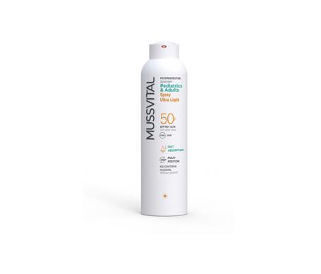 Mussvital Ultra light fotoprotector SPF50+ spray 150ml
