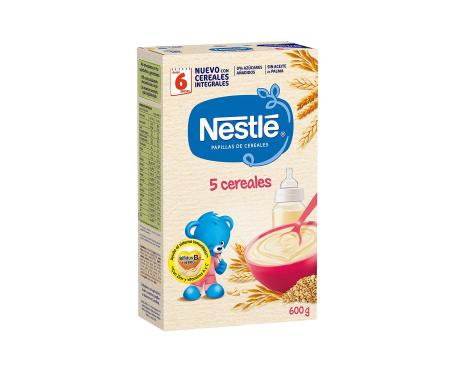 Nestlé papilla 5 cereales sin leche 600g