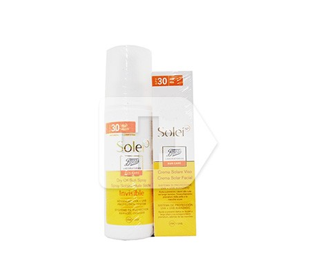 Solei spray aceite solar seco SPF30 125ml + Solei crema solar SPF30 50ml