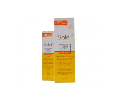 Solei solar Junior spray SPF50+ 150ml + solei dúo alta eficacia