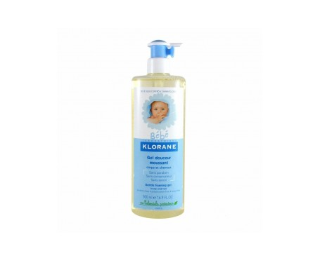 Klorane Bébé gel cuerpo y cabello 500ml