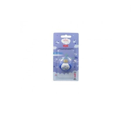 Nuk Cotton Party chupete T1 azul 1ud