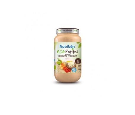 Nutribén® Eco Potitos delicias de verdura y ternera 250g