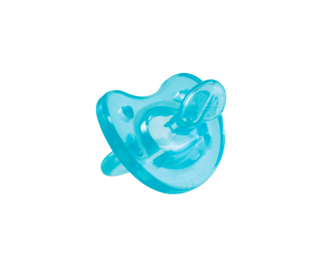 Chicco® chupete physio compact anatómico tetina látex 0-6 meses azul 1ud