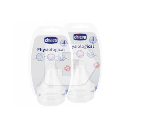 Chicco® tetina fisiológica silicona + 4m 2uds