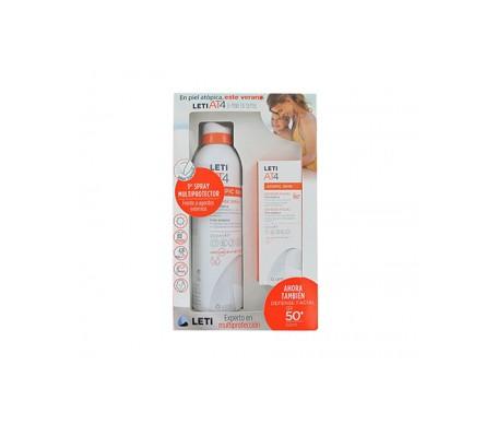Leti Pack Spray de défense photoprotecteur + Spray Visage Spf50