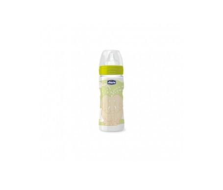 Chicco® biberón fisiologico tetina silicona boca ancha flujo rápido unisex 330 ml 1ud