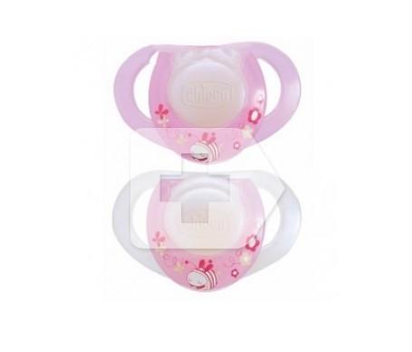 Chupete Chicco® physio para recién nacidos rosa 2uds
