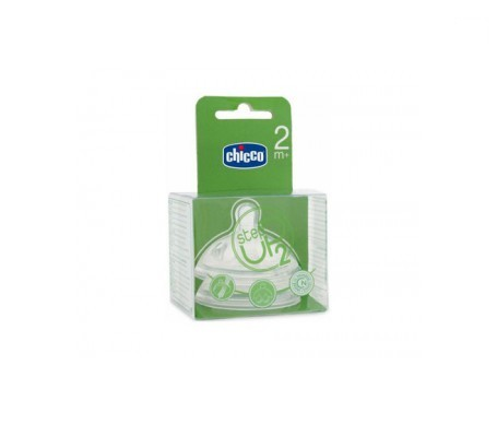 Chicco® tetina step up 2 tetina silicona boca ancha flujo regulable 2uds