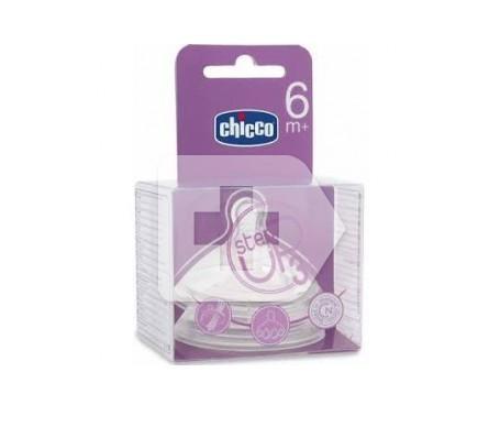 Chicco® tetina Step Up 3 silicona boca ancha flujo rápido 2uds