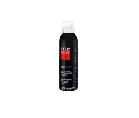 Vichy Homme gel crema de afeitado anti-irritaciones sin jabón 150ml
