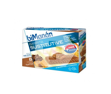 biManán® Sustitutive sabor toffee 24 barritas