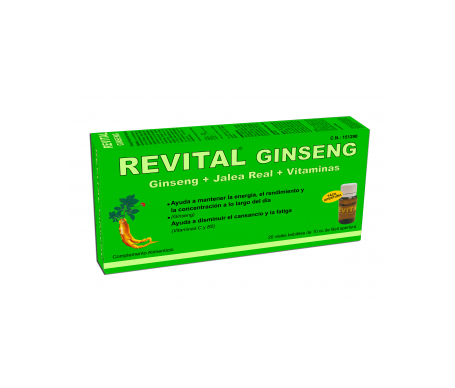 Revital ginseng + royal jelly + vitamin C 20 drinkable ampoules