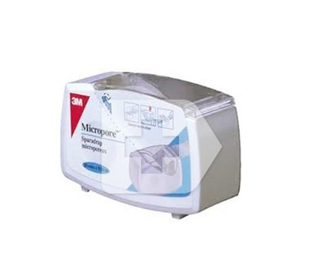 Micropore portarollo esparadrapo papel blanco 7,5m x 2,5cm