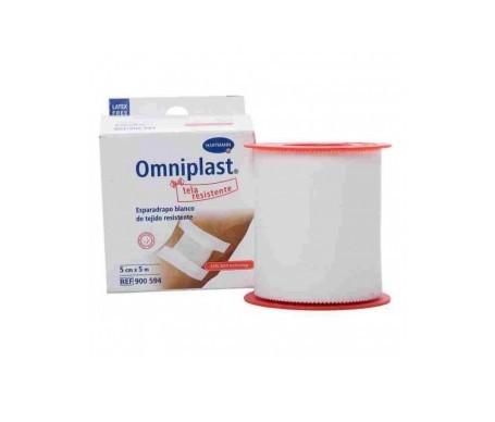 Omniplast esparadrapo hipoalérgico tejido resistente 5mx5cm 1ud