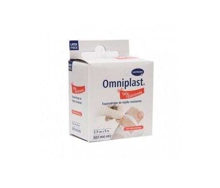 Omniplast esparadrapo tejido resistente 5mx2,5cm 1ud