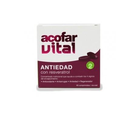 Acofarvital Antiedad Resveratrol 60comp