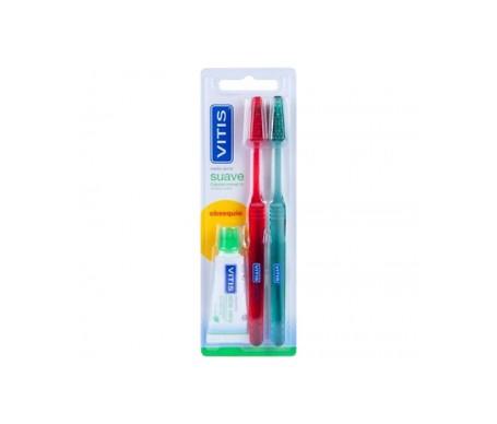 Vitis™ Brosse à dents souple 2 u. + cadeau