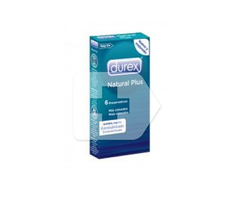 Durex® Natural Plus preservativos 6uds