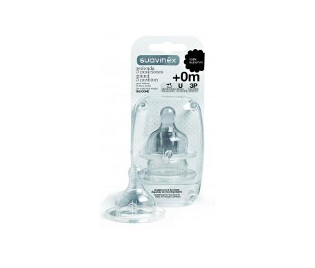 Suavinex® tetina silicona boca ancha talla 1 1ud