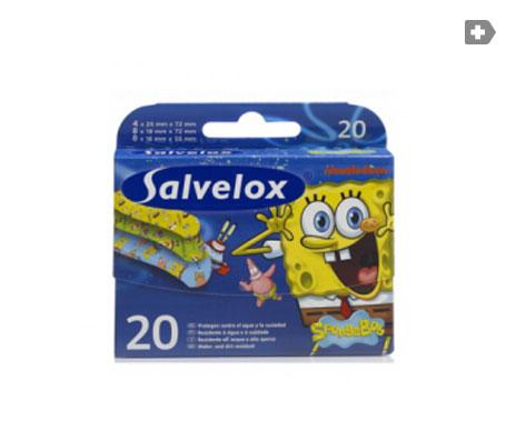 Salvelox Bob Esponja apósito adhesivo infantil 20uds
