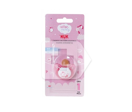 NUK chupete anatómico cotton party rosa talla 1 1u