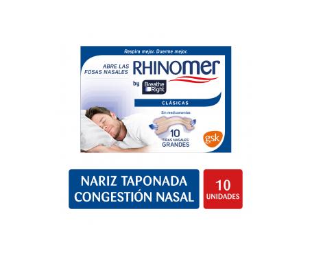 Breathe Right tiras nasales grandes 10uds