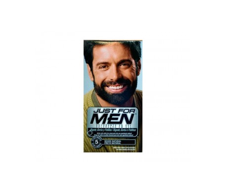 Just for Men gel colorante negro para bigote y barba 30ml
