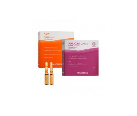 Sesderma Pack tratamiento flash Acglicolic & C-Vit