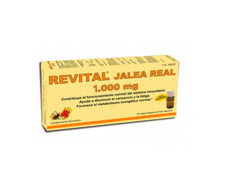 Revital royal jelly drinkable ampoules 20 uts