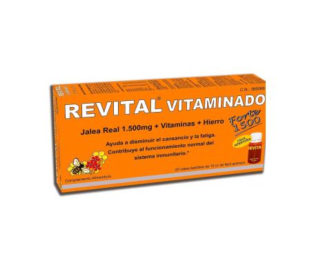 Revital Vitaminado Jalea real 1000mg 10amp bebibles