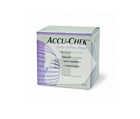 Accu chek Safe T pro plus 200 lancetas
