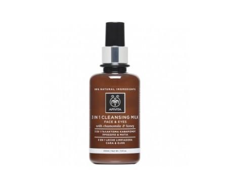 Apivita Cleansing Reinigungscreme 3 in 1 Gesichtspflege und Augen 250ml