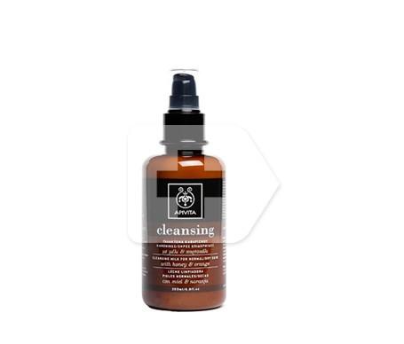 Apivita Cleansing leche limpiadora piel normal-seca 200ml