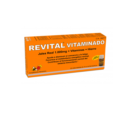 Revital Vitaminado Jalea real 1000mg 20amp bebibles
