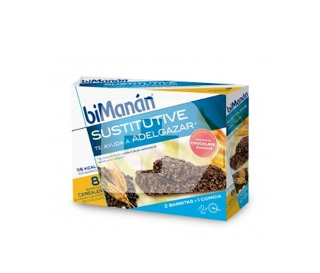 biManán® Sustitutive sabor cereales pepitas de chocolate 8 barritas