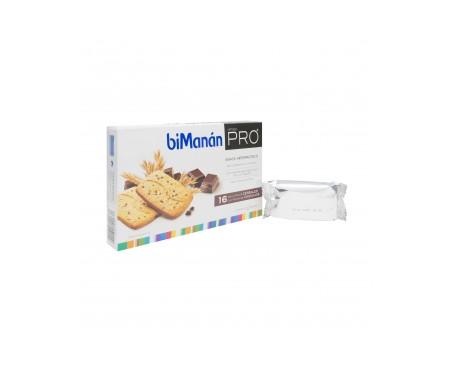 biManán® Pro galletas cereales con pepitas de chocolate 16uds
