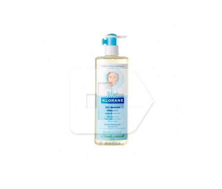 Klorane Bébé gel suave cuerpo y cabello 200ml