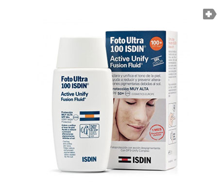 Foto Ultra  100 ISDIN® Active Unify Fusion Fluid SPF 50+50ml