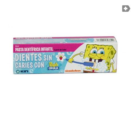 Kin Bob Esponja pasta dentífrica infantil 50ml