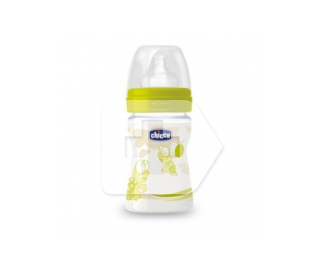Chicco® biberón tetina silicona Boca ancha flujo normal talla 1 150ml