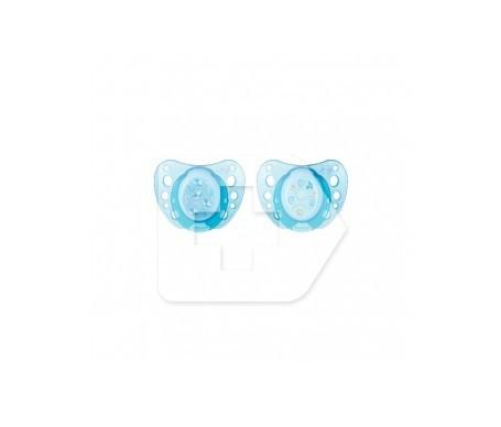 Chicco® chupete caucho anatómico 0m+ azul 2uds