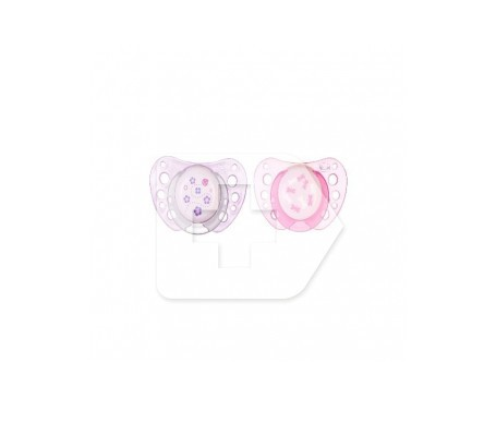 Chicco® chupete caucho anatómico 0m+ rosa 2uds