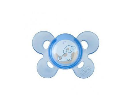 Chupete silicona Chicco® physio anatómico confort 0 M+ azul