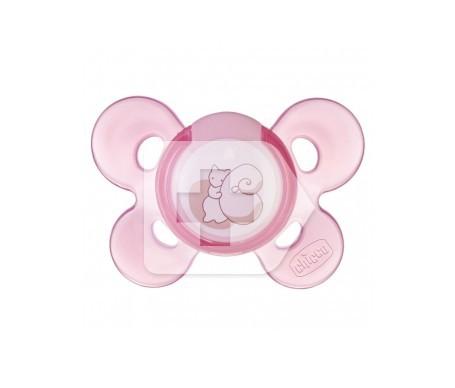 Chupete silicona Chicco® physio anatómico confort 0 M+ rosa