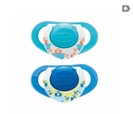 Chicco® Physio chupete silicona anatómico 12M+ azul 2uds