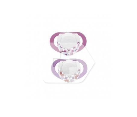 Chicco® chupete physio silicona anatómico 4 M+ rosa 2uds