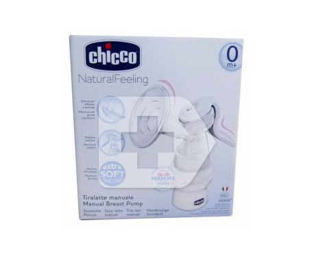 Chicco® sacaleches Natural Feeling Manual 0m+ con tetina de silicona 1ud