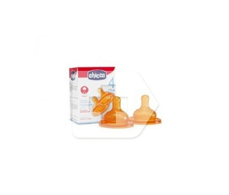 Chicco tetina silicona normal regulable +4M 2uds