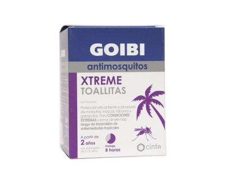 Goibi Xtreme Antimosquitos toallitas 16uds